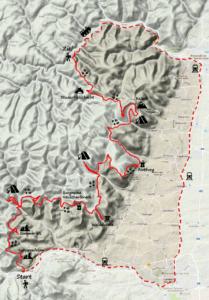 Karte Kalmit Trekking