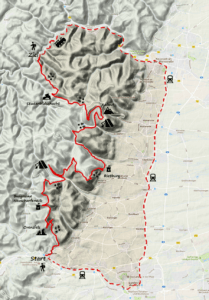 Karte Kalmit Frauen Trekking