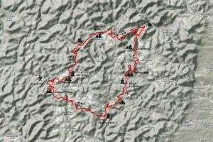Karte Felsenland Trekking